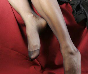 Füße in Nylons